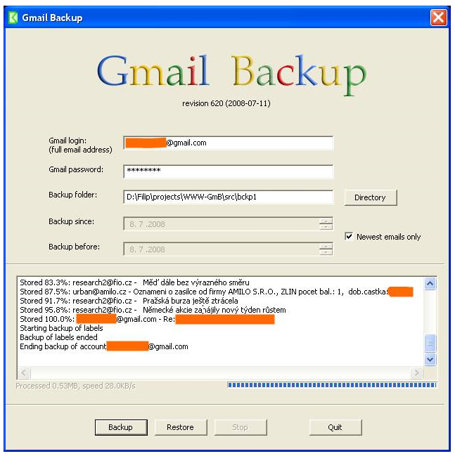 How to Backup your Gmail