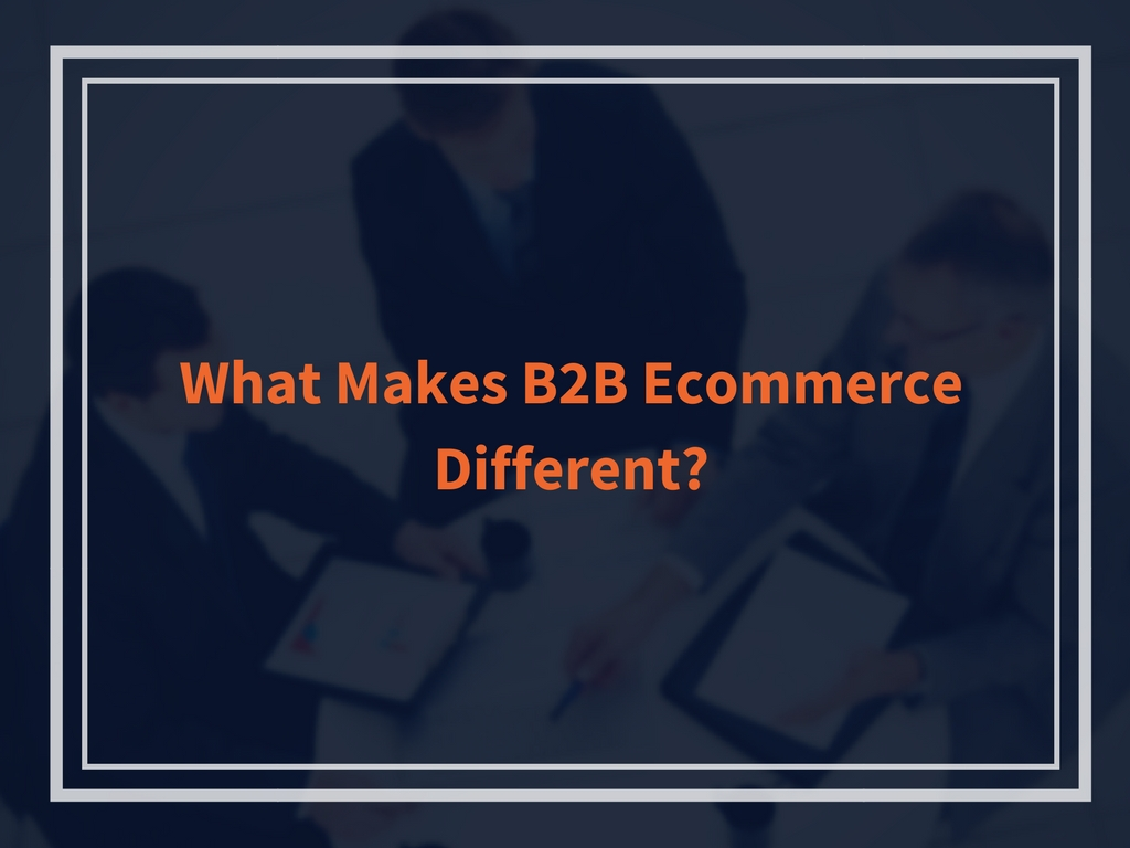 What Makes B2B Ecommerce Different