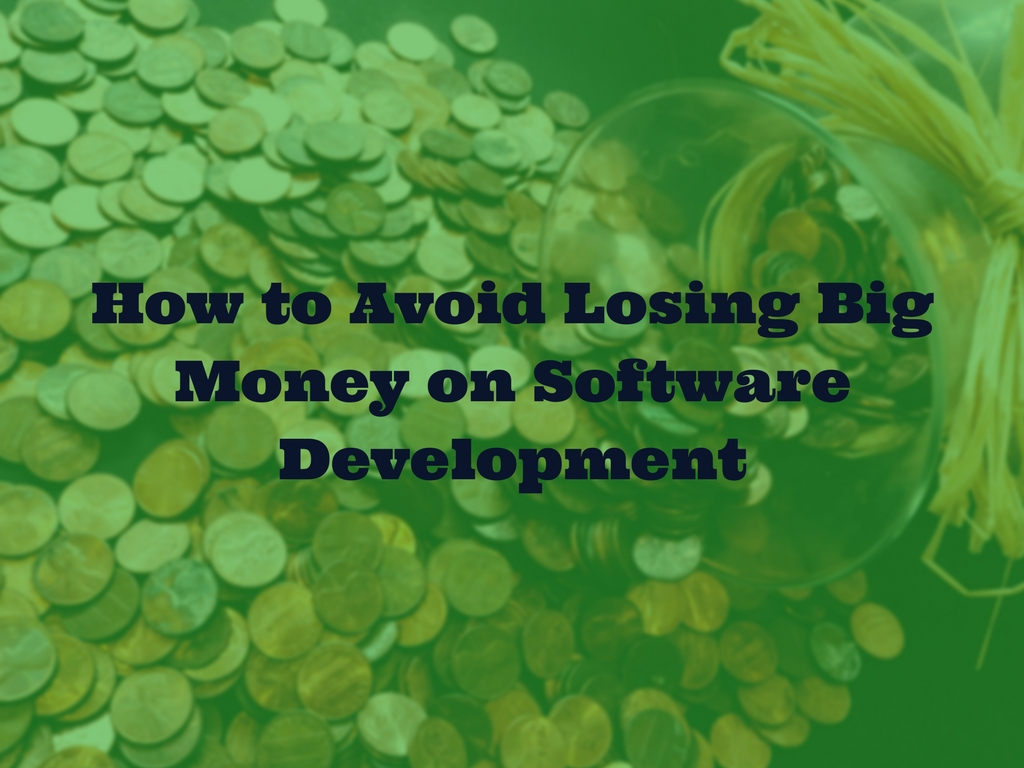How to Avoid Losing Big Money on Software Development