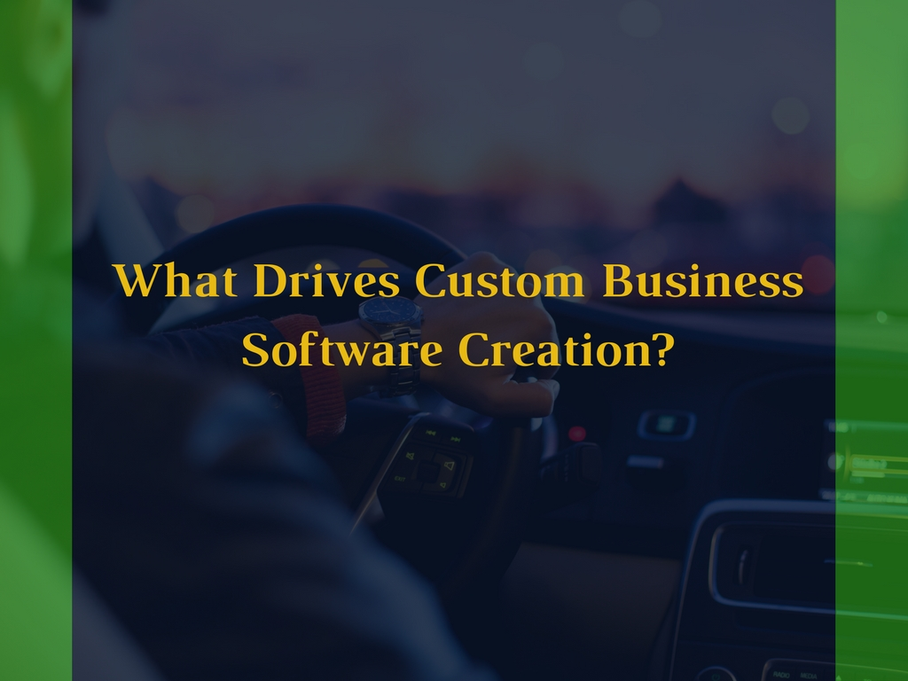 what drives custom business software creation