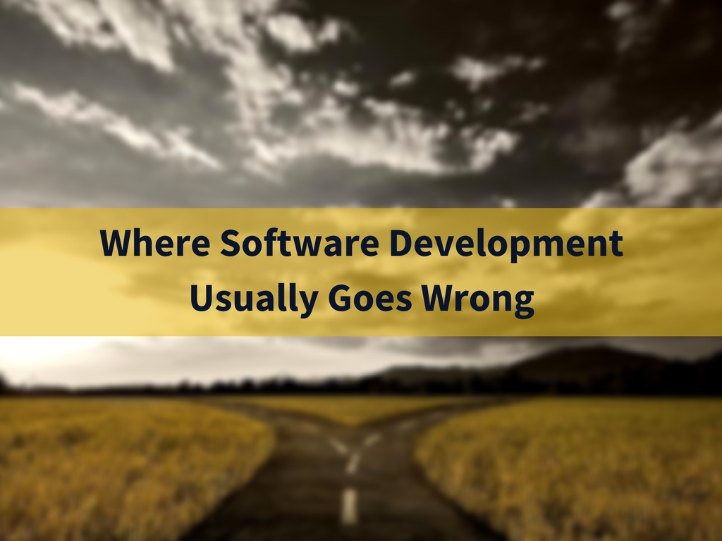 Where Software Development Usually Goes Wrong