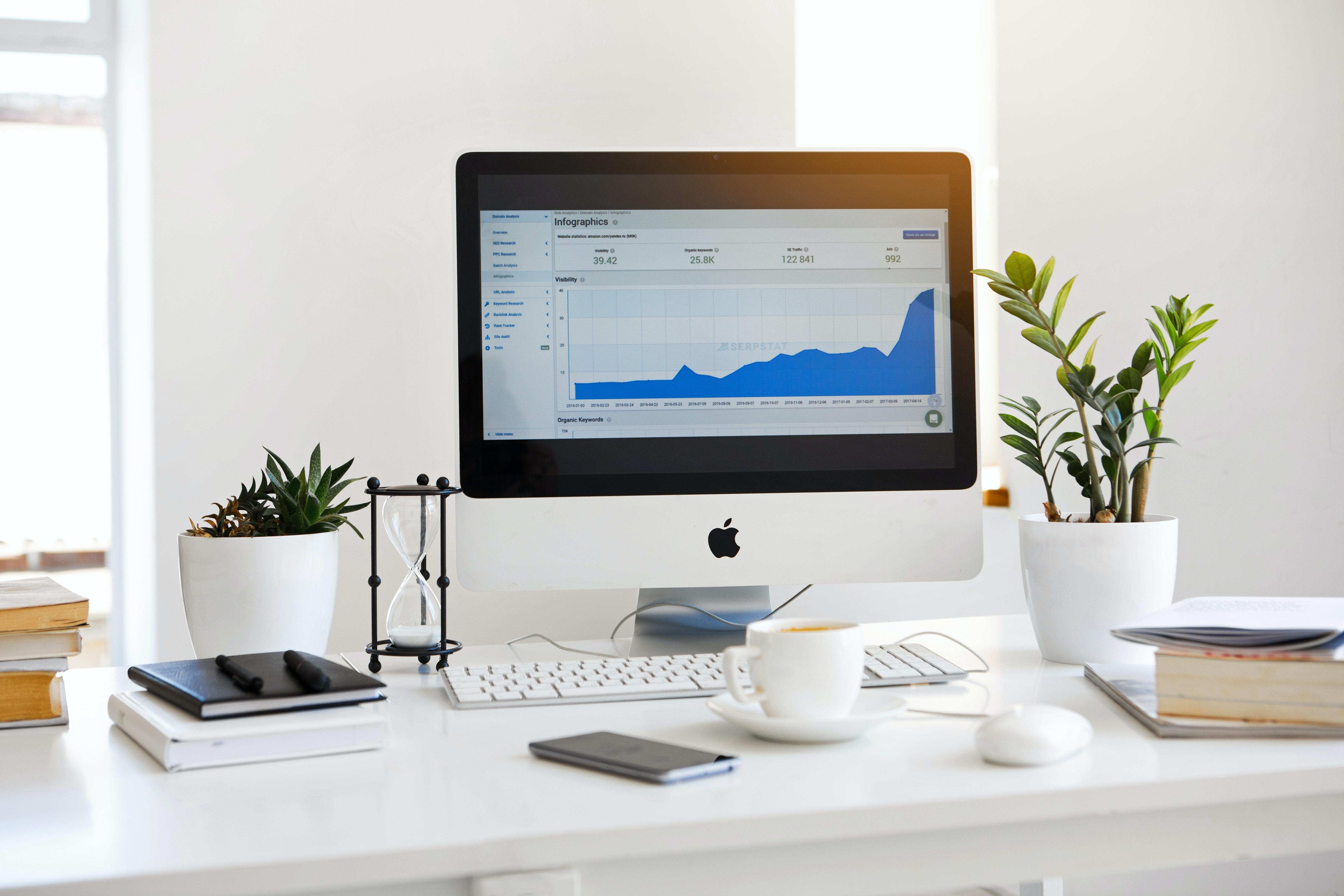 Apple laptop white background